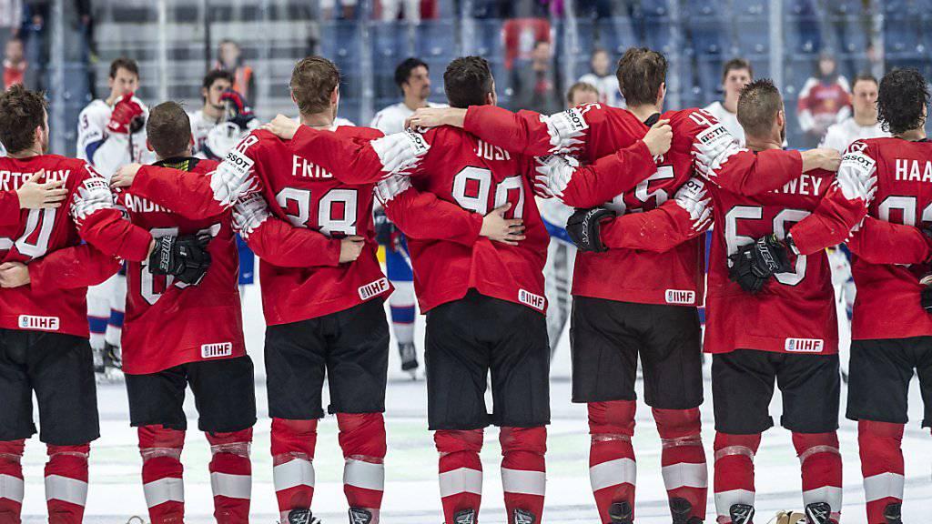 An dieses Bild vom siegreichen Schweizer Team kann man sich an der Eishockey-WM gewöhnen