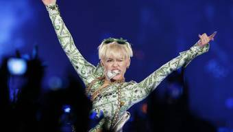 Wieder fit: US-Sängerin Miley Cyrus am Dienstag in London