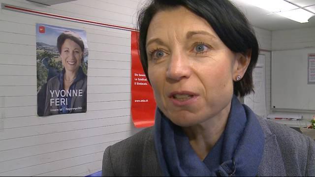 SP-Kandidatin Yvonne Feri in einer ersten Stellungnahme: «Das ist ein Achtungsresultat»