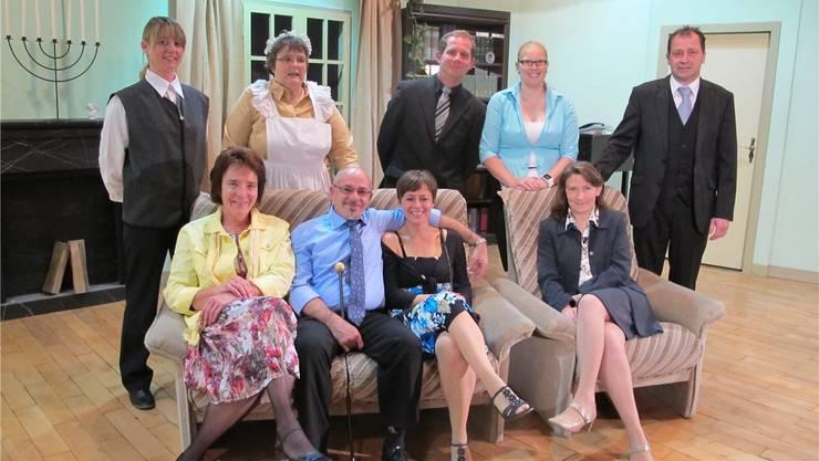 Die Theatergruppe des Gemischten Chores Matzendorf.