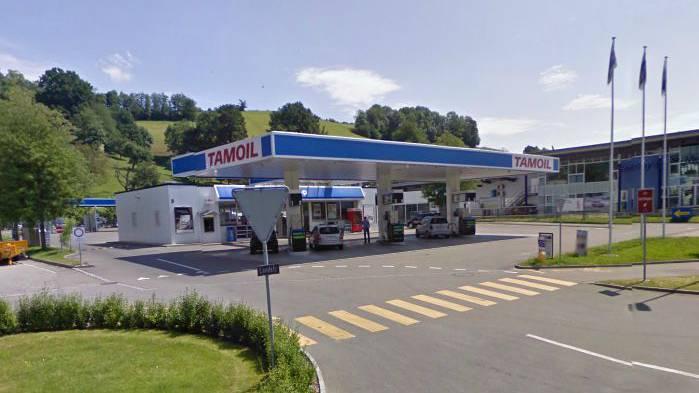 Die betroffene Tamoil-Tankstelle in Wettingen