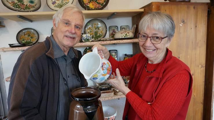 Anita und Markus Meerson in ihrem Keramik Weiningen Laden