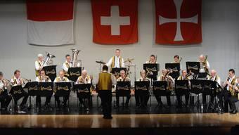 Die Oensinger Bechburg-Musikanten spielten zur 10. Ausgabe des Blaskapellen-Samstags auf.