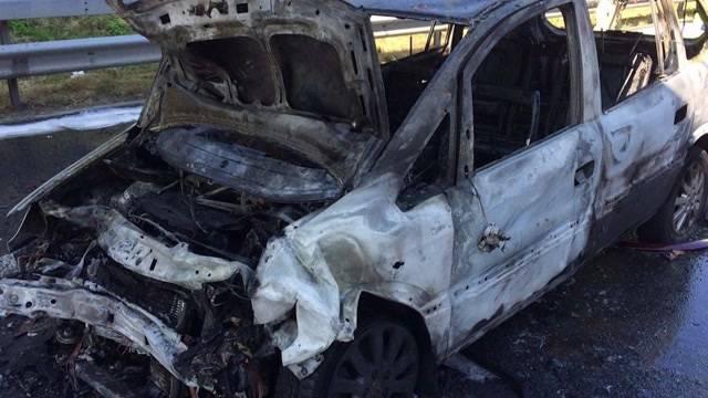 Autobrand in Mülligen