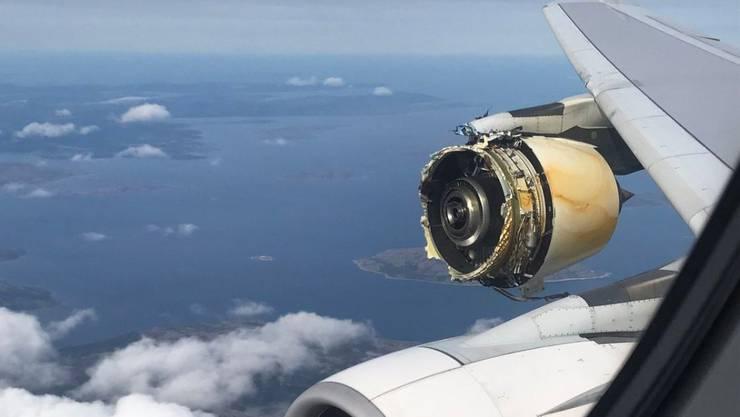 Das explodierte Triebwerk der französischen A380.