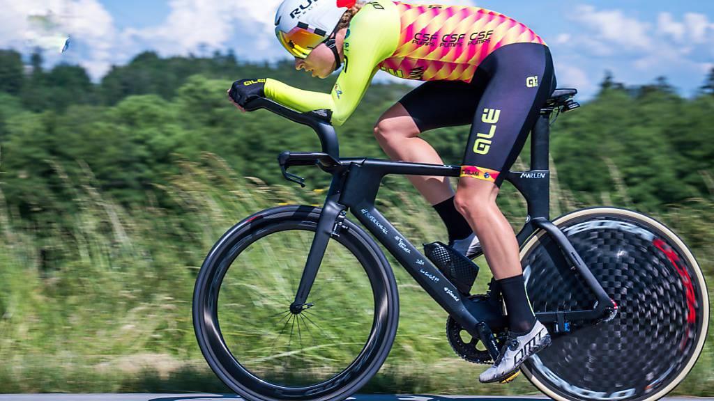 Mit ihrem Sieg im Zeitfahren am Donnerstag legte die Bernerin Marlen Reusser die Basis für Gesamtrang 2 bei der Simac Tour in den Niederlanden
