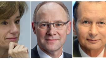 Ständeratskandidaten: Ruth Humbel kandidiert für die CVP, die FDP wird Nationalrat Philipp Müller ins Rennen schicken und für die SVP kandidiert Nationalrat Hansjörg Knecht (SVP).