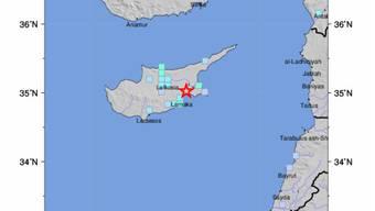 Ein Erdbeben erschütterte Zypern am Donnerstag.