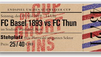 Schön anzusehen, aber leider nicht gültig: Das Fan-Ticket für den Cupfinal.