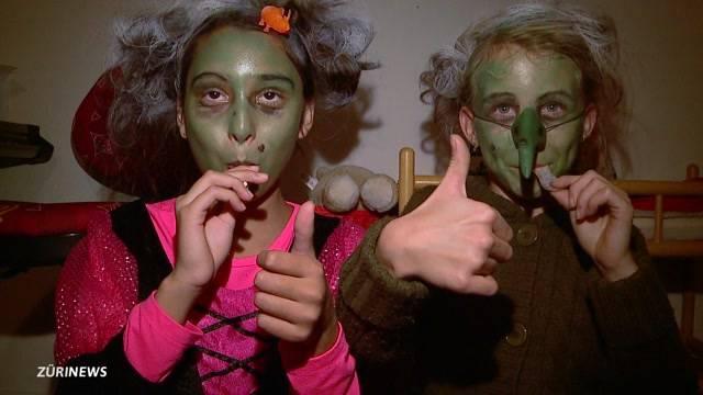 Wegen  Halloween im Dauereinsatz
