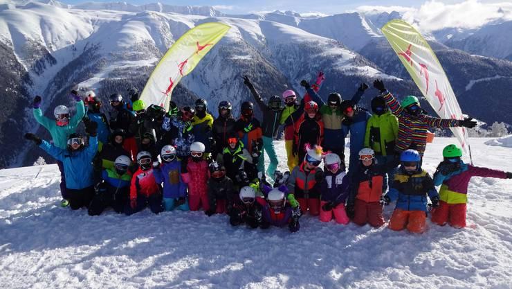 Die Viert- bis Sechstklässler aus Gunzgen hatten viel Spass im Schneesportlager.