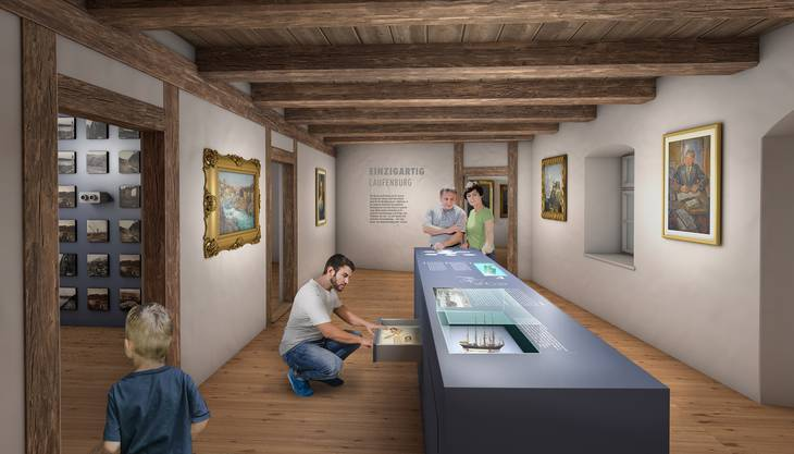 Visualisierungen des geplanten Um- und Ausbaus des Museum Schiff in Laufenburg.