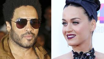 Rocken den Super Bowl: Lenny Kravitz und Katy Perry (Archiv)