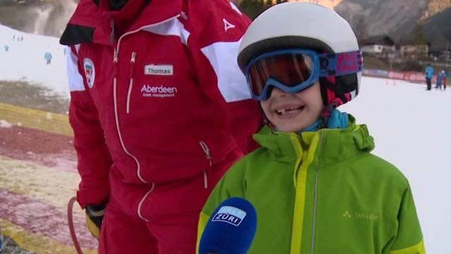 Skischule für körperlich behinderte Kinder