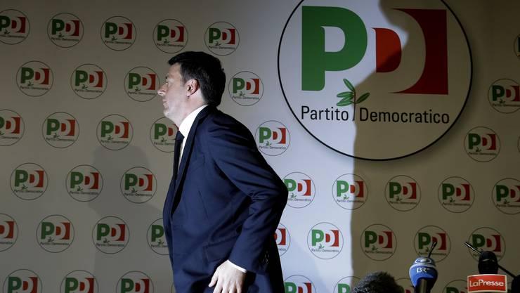 Matteo Renzi: Der einstige Hoffnungsträger tritt als PD-Chef zurück.