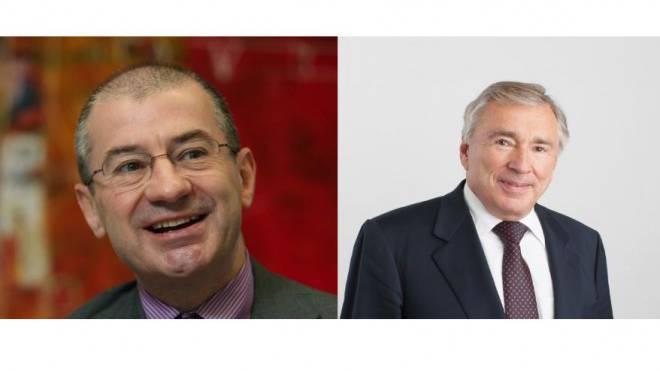 Giovanni Leonardi, Ex-Alpiq-CEO (links) und Hans Schweickardt, Ex-Alpiq-Präsident.