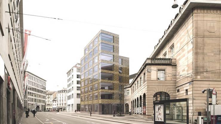 Visualisierung des Neubaus für das Amt für Umwelt und Energie