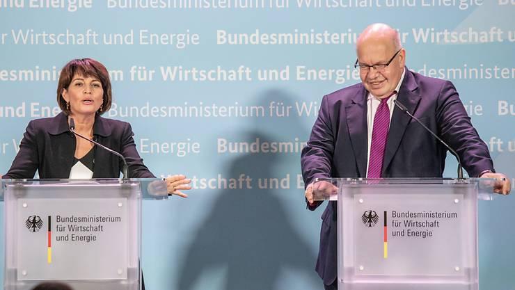 Bundesrätin Doris Leuthard (l.) hat in Berlin den deutschen Wirtschaftsminister Peter Altmaier getroffen.