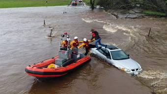 Ein Sturm brachte im US-Bundesstaat Kalifornien im März schwere Überschwemmungen. (Archivbild)