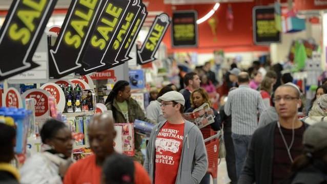 Tausende hoffen am «Black Friday» ein Schnäppchen zu erhaschen.