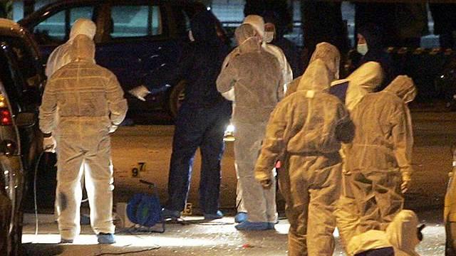 Erneut detoniert eine Bombe in Athen: Spurensicherung am Tatort