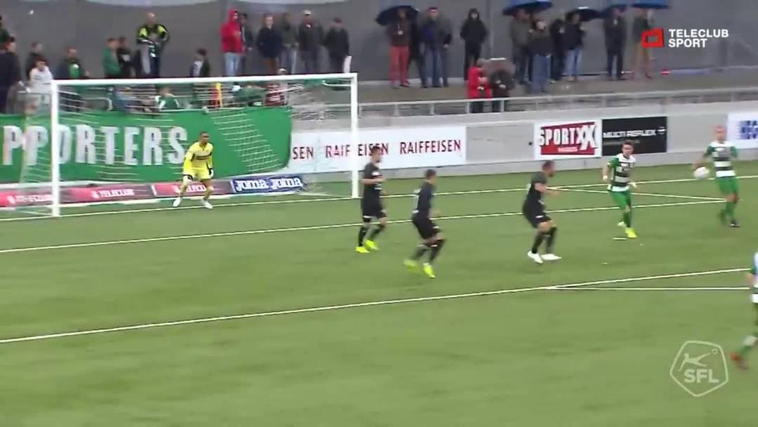 Challenge League 2019/20, 10. Runde: SC Kriens - FC Aarau,  2. Minute