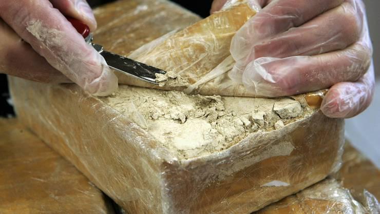 Beschlagnahmtes Heroin (Symolbild)
