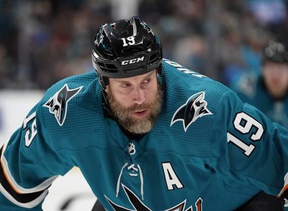Ex-Davoser Joe Thornton trifft für die San Jose Sharks dreifach.