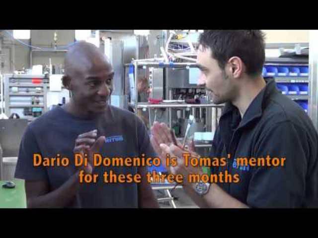 Schauen Sie Tomas Shikongo bei der Arbeit in der Ferrum AG über die Schulter.