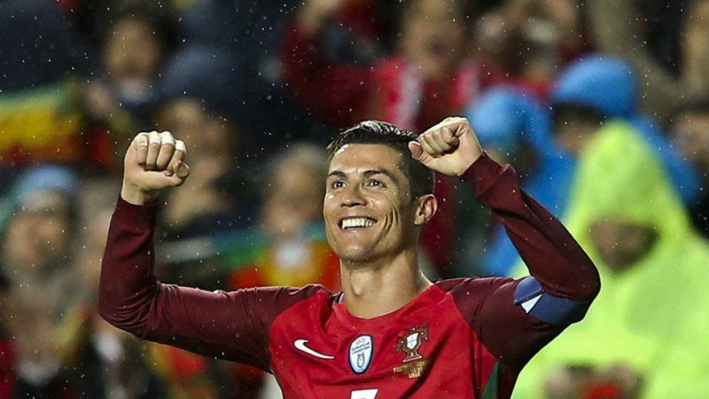 Cristiano Ronaldo bleibt mit Portugal auf Erfolgskurs