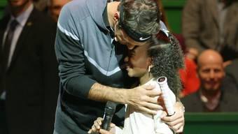 Chelsea Fontenel aus Kaiseraugst bei Roger Federers Abend «The Match for Africa» im Hallenstadion