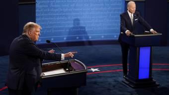 Der mit Spannung erwartete Schlagabtausch zwischen Trump (links) und Biden war alles andere als ergiebig.