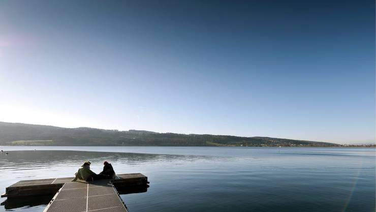 Diese beiden genossen das schöne Wetter entspannend am Greifensee