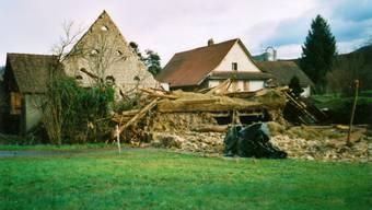 In Veltheim legte der Orkan vor 10 Jahren eine Scheune flach – die Besitzer freute es.