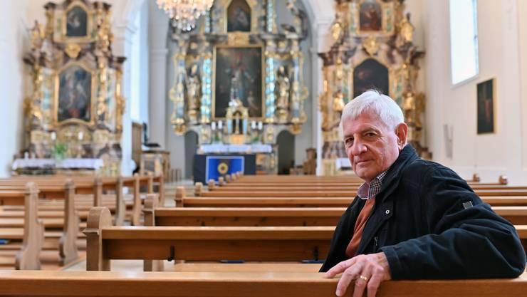 Eine gewöhnliche Messe füllt die Kirche kaum – es brauche neue Ideen, so Kurt von Arx, Präsident der römisch-katholischen Synode Kanton Solothurn.