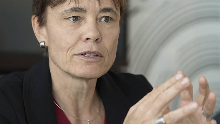 Corinne Schmidhauser, Stiftungspräsidentin von Antidoping Schweiz, spricht zum IOC-Urteil im Fall Russland