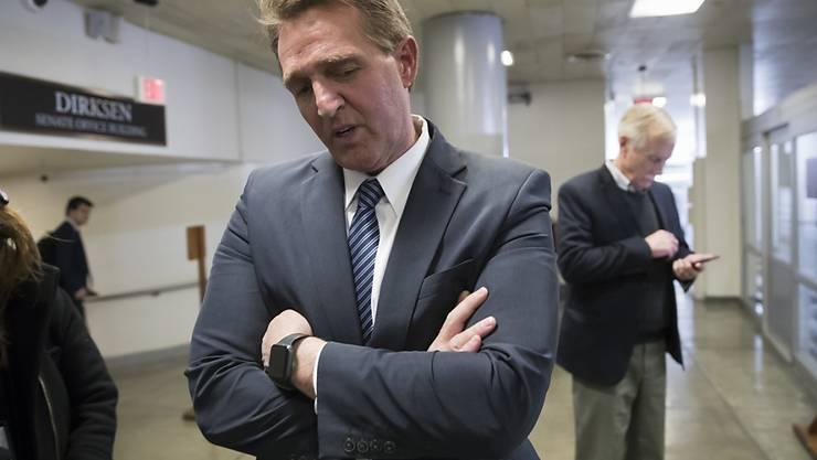 Will Trumps Strafzölle auf Stahl- und Aluminium-Importe stoppen: der republikanische US-Senator Jeff Flake aus Arizona. (Archivbild)