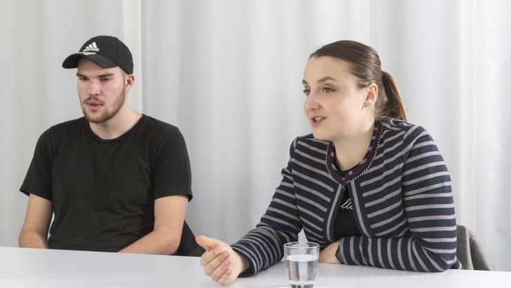 Doppel-Interview mit Jungpolitikern Valeria Meier (EDU) und Leandro Putzengruber (AL). Sie kandidieren für den Kantonsrat und sind beide Jahrgang 2000.