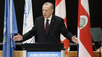 Herr über 3,7 Millionen Flüchtlinge in seinem Heimatland: der türkische Präsident Recep Tayyip Erdogan am Dienstag am Flüchtlingsforum in Genf.