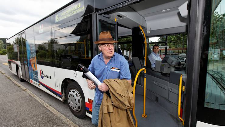 Wie ein Sightseeing. Der Autor nach gut zwei Stunden an der Station Vordemwald-Post. (Foto: André Albrecht)