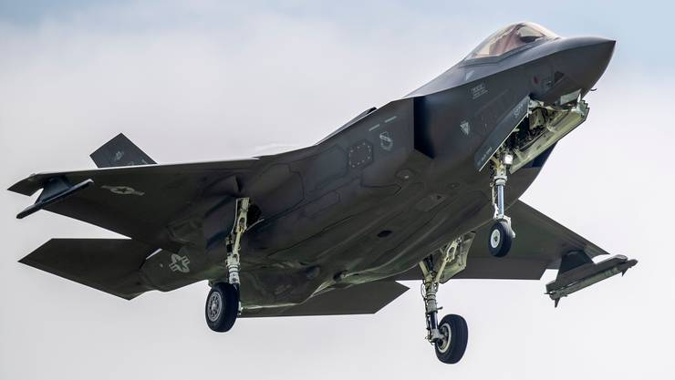 Ist nur das Modernste gut genug? US-Jet F-35A am 7. Juni in Payerne VD.
