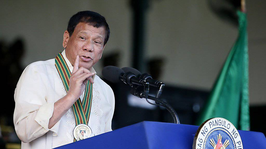 Die philippinische Regierung von Rodrigo Duterte hat mit kommunistischen Rebellen eine Grundsatzvereinbarung über einen Waffenstillstand erzielt. (Archivbild)