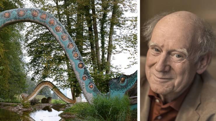 Der Skulpturenpark: Auch Franz Hohler hofft, dass er weiterbestehen kann.
