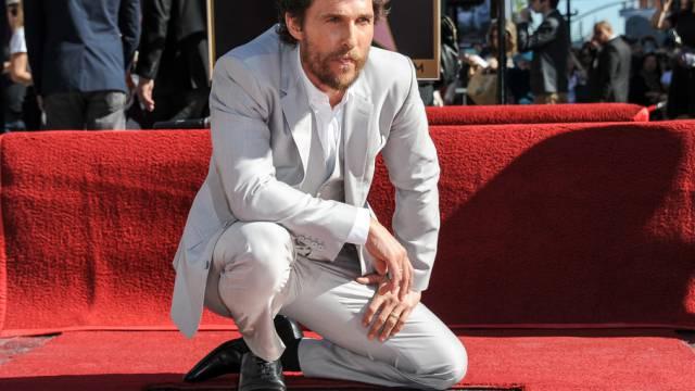Ein Stern, der seinen Namen trägt: Matthew McConaughey in Hollywood