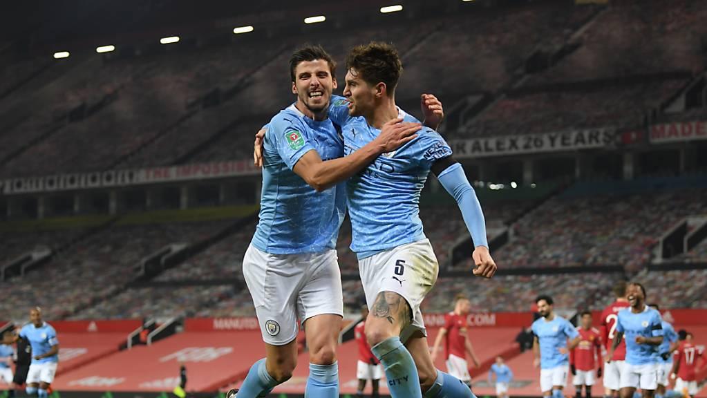 John Stones (rechts) brachte Manchester City mit seinem Tor in der 50. Minute auf die Siegerstrasse