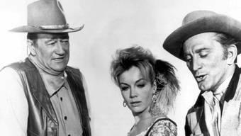 John Wayne (links) bleibt in Erinnerung. (Archiv)