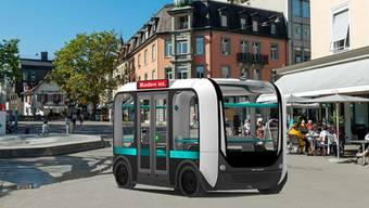 Kleinbusse ohne Chauffeur sollen laut Initianten bereits in einem Jahr vom Bahnhof ins Bäderquartier fahren.