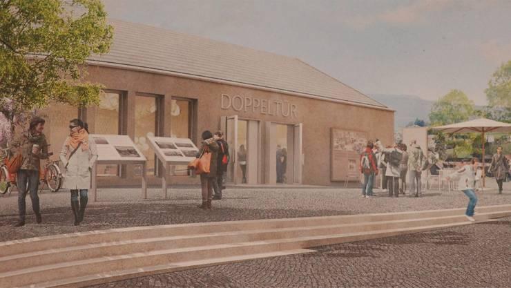 So könnte das Besucherzentrum dereinst aussehen.