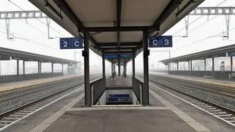 Bleibt unter der Woche ein Geisterbahnhof: der Bahnhof Dulliken. Den Pendlern bleibt der Ersatzbus.