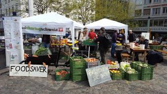 Gemüse in Hülle und Fülle: der Anti-Foodwaste-Stand am Eco-Festival vom Vorjahr.